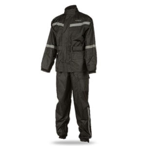 Fly Street Two-Piece Motorcycle Rain Suit - Best Raincoat for Motorcycle Riders: High Waist For Better Protection