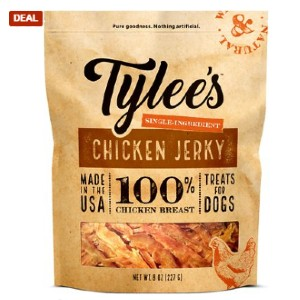 Tylee's Human-Grade Chicken Jerky Dog Treats - Best Dog Jerky Treats: Chew Texture Jerky