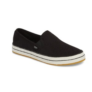 UGG Bren Slip-On Sneaker - Best Slip-On Sneakers for Walking: Stripe-Wrapped Sole Slip-On Shoe