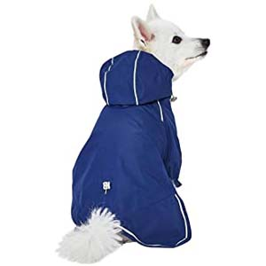 UMI Lightweight Reflective Dog Raincoat - Best Raincoats for Big Dogs: Cute with high visibility