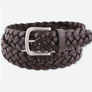 Uniqlo MEN LEATHER WIDE MESH BELT - Best Men's Belt for Jeans: Woven Mesh Belt