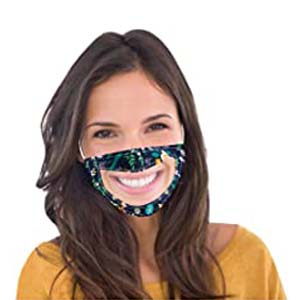 UOKNICE BLOUSE Transparent Mouth Face Mouth Cotton - Best Masks for COVID: Your sweet smile is no longer hidden