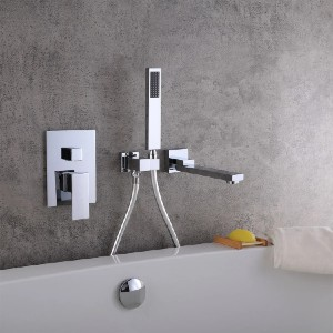 Homary J020855-US-CHROME - Best Bathtub Faucets: Constructed from Solid Brass for Durability and Strength
