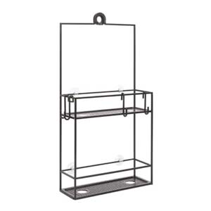 Umbra CUBIKO Shower Caddy Black - Best Bathroom Organizer: Put your bottles upside down
