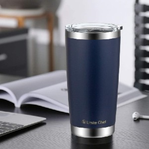 Umite Chef Double Wall Stainless Steel Vacuum Insulated Tumbler  - Best Tumbler for Iced Coffee: Splash-proof lid tumbler