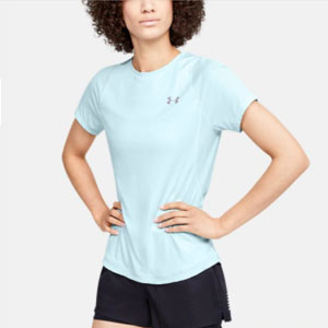 Under Armour Women's UA Qualifier Iso-Chill Short Sleeve - Best Women's Running Shirts: Shirt with slits at the back design