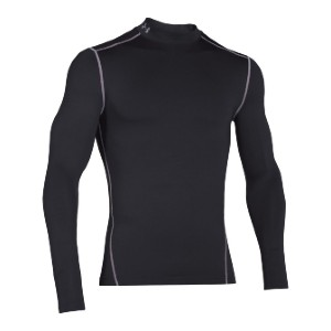 Under Armour ColdGear Armour Compression Mock-Neck Shirt - Best Base Layers for Hiking: Anti-Odor Base Layer
