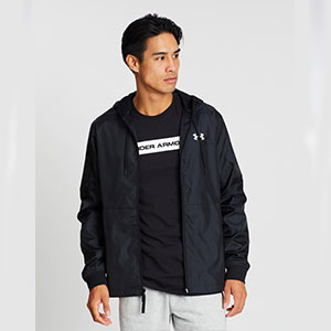 Under Armour Legacy Windbreaker Jacket - Best Jacket for Wind: Wind-resistant ripstop and water-repellent jacket