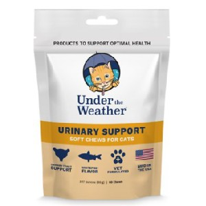 Under the Weather  Urinary Support Soft Chews Cat Supplement - Best Food for Cat Urinary Health: Food with D-mannose Formulation
