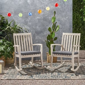 Union Rustic Outdoor Brookport (Set of 2) - Best Rocking Lawn Chair: Mid-Century Vibe Rockers