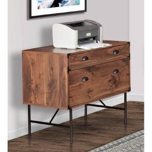 Union Rustic Bruening 3 Drawer Lateral Filing Cabinet - Best Lateral File Cabinets: Modern Look File Cabinet