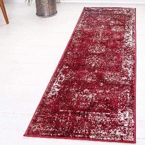 Unique Loom Sofia Collection Traditional Vintage Runner Rug - Best Entryway Rug for Winter: Gorgeous and stain-resistant