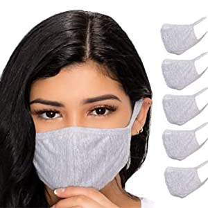 BWN Unisex Reusable Washable Cotton Face - Best Masks for COVID: Easy to wear and take off
