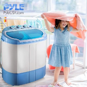 Pyle Upgraded Version Portable Washer & Spin Dryer - Best Washers for Cloth Diapers: Ideal for small loads