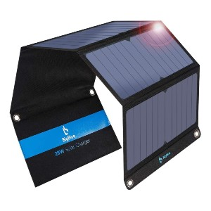 BigBlue 3 USB Ports 28W Solar Charger - Best Solar Panel for Backpacking: Intelligently recognize your device