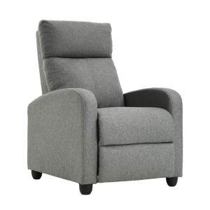 Easyfashion Upholstered  - Best Recliners for Small Spaces: Works for the Living Room, Office, and Bedroom