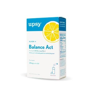 Upsy BALANCE ACT CBD BEVERAGE BLEND (10 COUNT) - Best CBD Drinks for Relaxation: Great for Anxiety