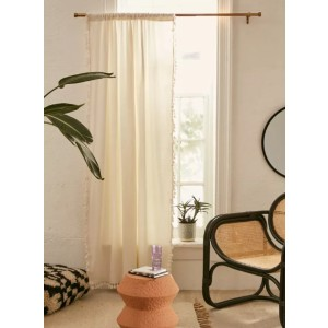 Urban Outfitters Palma Fringe Light Blocking Window Curtain - Best Curtains for Bedroom: Fringe-Trimmed Curtain