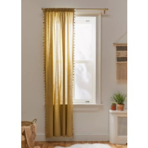 Urban Outfitters Pompom Curtain - Best Curtains for Living Room: Curtain for Cheer Up The Room