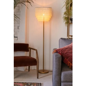 Urban Outfitters Phoebe Tiered Fringe Floor Lamp - Best Floor Lamp for Dark Room: Roaring '20s Design