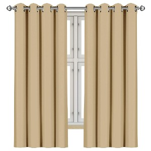 Utopia Bedding 2 Panels Grommet Blackout Curtains  - Best Curtain to Block Light: Curtain with Grommet