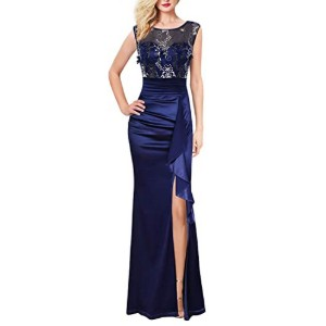 VFSHOW Womens Formal Ruched Ruffles Party Dress  - Best Party Wear Dress for Ladies: Adjustable zipper slit