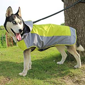 VICTORIE Dog Pet Rain Jacket - Best Raincoats for Big Dogs: Highly adjustable with velcro