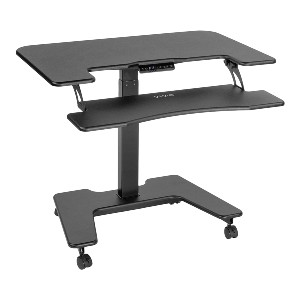 VIVO Black Electric Mobile Standing Desk - Best Standing Desk for Small Spaces: Large Surface