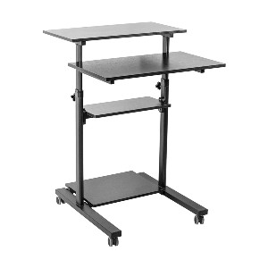 VIVO Mobile Height Adjustable Table Stand Up Desk  - Best Standing Desk with Storage: Excellent Mobility Standing Desk