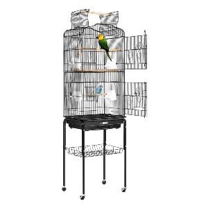 VIVOHOME 59.8 Inch Wrought Iron Bird Cage - Best Bird Cages for Budgies: Open-top play area