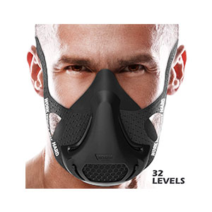 VO2MAX Training Mask 32-Level Resistance Valve System - Best Masks for Working Out: Let's Play Hard and Work Hard. Overcome Your Limit!