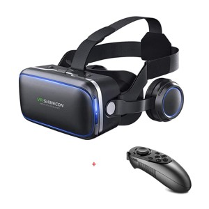 VR Shinecon VR Headset 3D Glasses - Best VR for 6.5 inch Phone: Keeps you cool