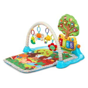 VTech Baby Lil' Critters Musical Glow Gym - Best Playmat for Tummy Time: Multitude of stimulating toys
