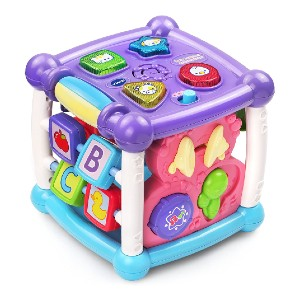 VTech Busy Learners Activity Cube - Best Musical Toys for 6 Month Old: A box of joy