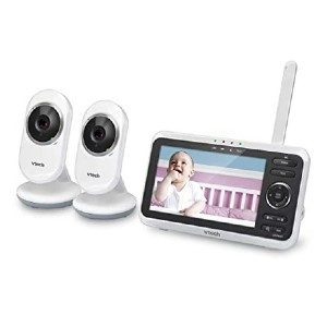 VTech VM350-2 - Best Video Baby Monitor with 2 Cameras: High-resolution