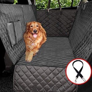 Vailge Waterproof Dog Car Seat Covers - Best Car Door Protector for Dogs: Protect the entire back seat