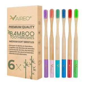 Vaireo Bamboo Eco Friendly Soft Toothbrushes - Best Biodegradable Toothbrush: A year's worth of use