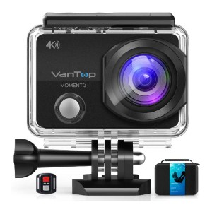 VanTop Moment 3 - Best GoPro for Motorcycle: 170°Ultra-Wide Lens and Multiple Modes