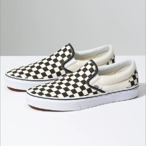 Vans CHECKERBOARD SLIP-ON - Best Slip-On Sneakers for Walking: Stunning Checkerboard Print Slip-On