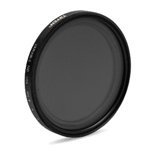 Tiffen Variable ND Filter - Best ND Filters for Wedding Photography: Black Aluminum Filter Ring