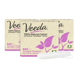 Veeda 100% Natural Cotton - Best Organic Tampons for Heavy Flow: All-around coverage