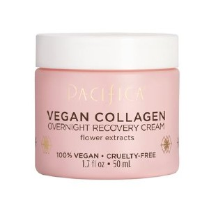 Pacifica Vegan Collagen Overnight Recovery Cream - Best Anti Aging Cream Natural: Smells like Subtle White Floral Notes