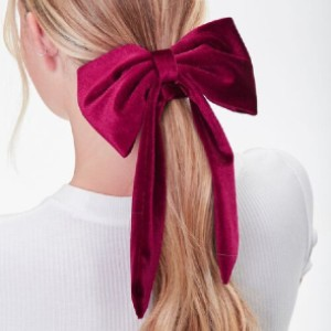 Forever 21 Velvet Bow Scrunchie - Best Hair Scrunchies: Featuring a Large Statement Bow