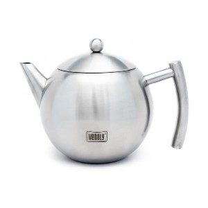 Venoly Stainless Steel Tea Pot With Removable Infuser - Best Teapot with Infuser: Durable Satin-Finished Teapot