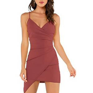 Verdusa Women's Sexy Ruched Side Cami Dress  - Best Party Wear Dress for Ladies: 44 gorgeous colors