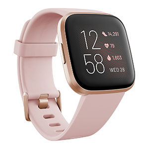 Fitbit Versa 2 Rose Elastomer Strap Touchscreen Smart Watch 39mm - Best Fitness Trackers: Run Your Favorite Music Apps Plus Store