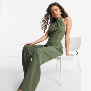 Vesper Petite high neck wide leg jumpsuit - Best Jumpsuits for Petites: Sophisticated look