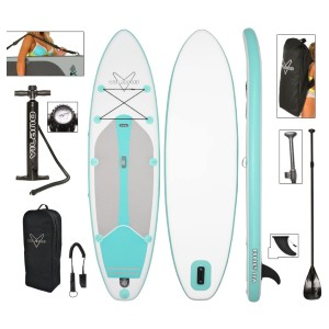 Vilano Journey Inflatable SUP Stand up Paddle Board Kit - Best Paddle Boards Under $500: Comfortable Grip Pad Paddle Board