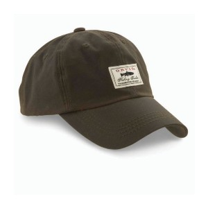 ORVIS Vintage Waxed-Cotton Ball Cap - Best Sun Hat Hiking: Features a Vintage-Style Label