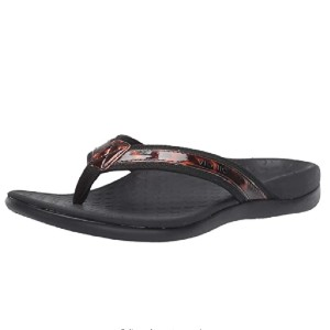 VIONIC Women's Tide II Toe Post Sandal  - Best Sandals for High Arches: Simple Leather Sandal